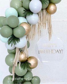 Balloon Garland, Balloon Arch, Balloon Decorations, Birthday Party Decorations, Diy Garland, Baby Birthday, First Birthday Parties, First Birthdays, Birthday Ideas
