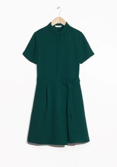 & Other Stories | Belted Collar Dress