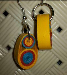 #orecchini #orecchino #faidate #handmade #carta #quilling #quillingpaper #monachella #monachelle #rosso #red #blu #blue #giallo #yellow