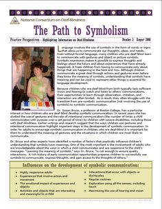 The Path to Symbolism from the National Consortium on Deaf-Blindness - shared by @PrAACtical AAC