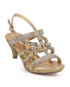 a049f1a7c38b Amazon.com | Fabulous DE36 Metallic Open Toe Rhinestone Slingback Jeweled  Sandal (Toddler/ Little Girl/ Big Girl) - Black (Size: Toddler 9) | Sandals