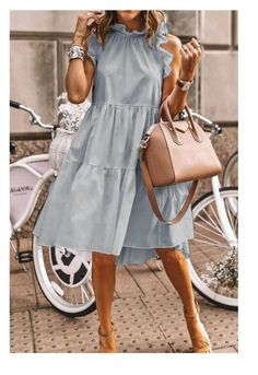 Your Shopping Cart – Jennerlady Casual Dresses, Casual Outfits, Fashion Dresses, Grey Dresses, Knee Length Dresses, Modest Fashion, Summer Dresses For Women, Summer Outfits, Summer Weekend Outfit
