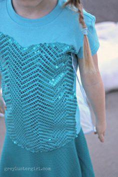DIY Disney Frozen Elsa Costume made from a shirt!