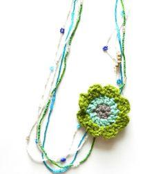 Crochet Flower Necklace - Bing Images