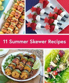 11 Healthy Summer Skewer Recipes