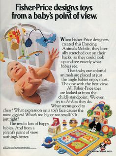 Fisher Price baby toys (1970s-1980s)