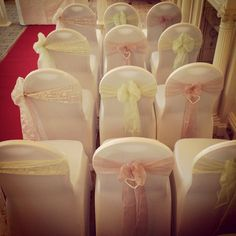 Chair Covers & Sashes set for a wedding ceremony supplied by Celebration Events at the Imperial Hotel Llandudno North Wales
