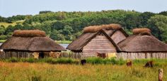 The viking open air museum of Haithabu, or Hedeby. It's safe natural inland harbour, on the river Schlei, and the fact that it was on route from-and-to Birka, to the eastern european river system, made it one of the most important trading centre of it's time.