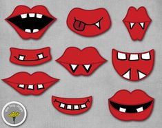 Monster Photo Prop Mouths Printable Instant by yamdaisydesigns