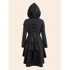 SHARE & Get it FREE | Plus Size Lace Up High Low Hooded CoatFor Fashion Lovers only:80,000  Items·FREE SHIPPING Join Dresslily: Get YOUR $50 NOW!