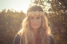Crocheted Flower Crown by ShineFreely on Etsy, $20.00 buy buy buy  buy buy buy buy!!! :)