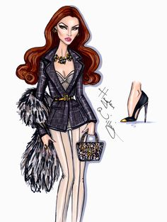 Hayden Williams Fashion Illustrations: 'Most Coveted' by Hayden Williams