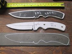 D.Comeau Custom Knives - DIY Knifemaker's Info Center: Knife Patterns