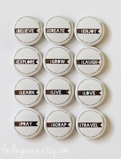 Word Banner Flair Button by findingnana on Etsy, $9.00