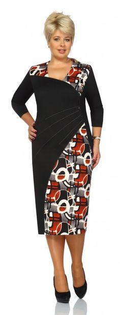 Нарядные и повседневные платья для полных женщин белорусской компании Novella Sharm. Осень-зима 2014-2015