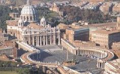 st peters basilica - curved colonades = Mary's outstretched arms