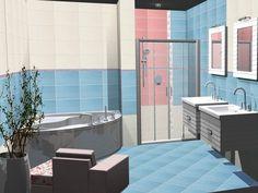 Bathroom interior design made of Zorka Keramika Tiles - Summertime Collection
