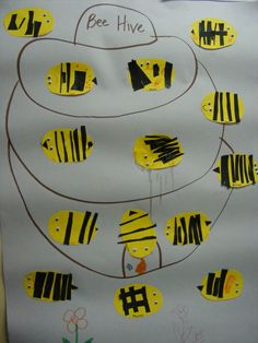 Cutting practice makes cute bees! Special Education Classroom, Kids Education, Physical Education, Physical Activities, Preschool Cutting Practice, Scissor Skills, Pediatric Ot, Cute Bee, Pre Writing
