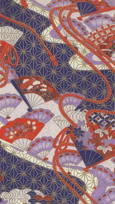 Japanese Textiles, Japanese Patterns, Japanese Prints, Japanese Design, Textile Patterns, Textile Art, Venus Flytrap, Kimono Pattern, Asian Design