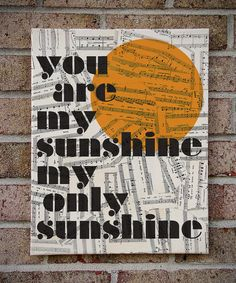 You Are My Sunshine My Only Sunshine Canvas Wall by TribeAndTrade