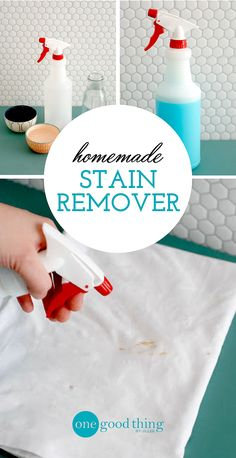I'm sharing my favorite homemade stain remover. It's inexpensive, just as effective as any store bought alternative, and makes stains disappear before your very eyes!