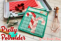 We wanted to add some extra cuteness to our kitchen this Christmas, and thought Pretty Potholders were a great place to start! We added Insul-Bright Christmas Sewing, Christmas Books, Christmas Ideas, Christmas Quilting, Christmas Fabric, Christmas Things, Vintage Christmas, Christmas Decorations, Quilt Blocks Easy
