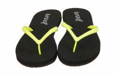 Fluo gele glitter slippers voor meisjes en dames van Reef. #Reef #Zomer2014 #SchoenenCaramel