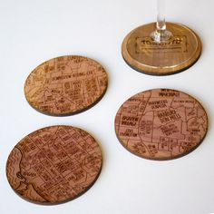 These handcrafted cedar coasters make sure we never forget where we came from. And when that place is Toronto, why would we want to!