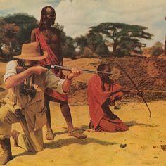 Hemingway Safari in Archery - Primitive Bows Forum Safari Shirt, Look Magazine, Ernest Hemingway, Concrete Jungle, African Safari, Archery, Kenya, Vintage Posters, Primitive
