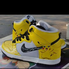 big sale 8eba9 c15ac I found  Custom Pikachu Nike Dunk Sneakers  on Wish, check it out!
