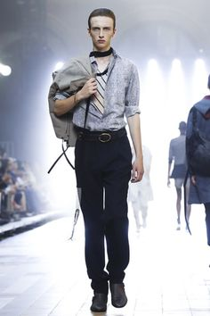 On the last day of the Spring/Summer 2016 Paris menswear season, Lanvin's menswear designer Lucas Ossendrijver took the brand down a New Wave, Thin White Duke, rock and roll road.  The ...