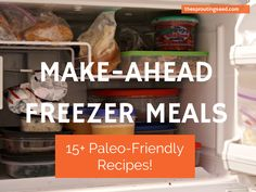 I LOVE these paleo make ahead freezer meal ideas! They are such a lifesaver in a pinch. thesproutingseed.com