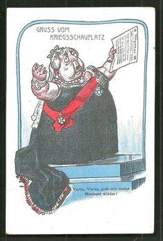 BOER War Queen Victoria Telegram Defeat Caricature 1900