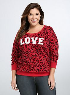 Leopard Print Love Sweatshirt,