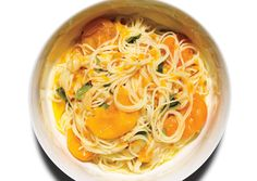 Pasta with Sun Gold Tomatoes by Chef Mario Batali.