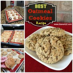 Best Oatmeal Cookies Recipe EVER!  You will never try another Oatmeal Cookie recipe ever again!  #YUMMY