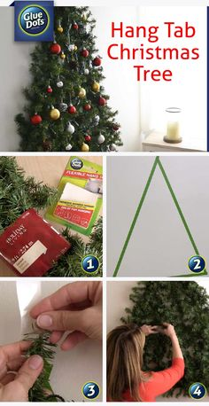 Make a vertical Christmas tree on your wall with help from Isabelle LaRue from Engineer Your Space and Glue Dots Flexible Hang Tabs. Click through to watch the quick video.