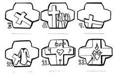Sorozatok (A keresztút állomásai). Catholic Crafts, Bible Coloring Pages, Lent, Easter Crafts, Christian, Comics, Baby, Saints, Catholic Art