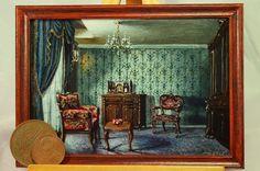 "Miniature work. ""In the room"" acrylic on cardboard."