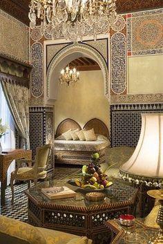 Moroccan Décor: Home Decor, Home Improvement & Home Design – Self Home Decor Moroccan Room, Moroccan Interiors, Moroccan Decor, Arabic Decor, Islamic Decor, Moroccan Design, Moroccan Style, Islamic Architecture, Interior Architecture