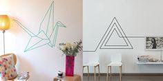 Masking tape: 12 idées pour décorer un mur blanc