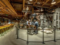Starbucks Reserve Roastery: Seattle, Wash. : With much respect to all the wonderful Seattle third-wave shops like Seattle Coffee Works, Cafe Vitta, Victrola and Slate (plus literally a dozen more), it's hard to deny the sheer impressiveness of the Starbucks Reserve Roastery. There's no better way for average coffee drinkers to sharply ratchet up their understanding of roasting, brewing and enjoying coffee than to stroll through the massive space, casually soaking up knowledge from a…