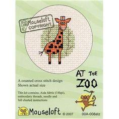 Mouseloft Giraffe At The Zoo Cross Stitch Kit | Hobbycraft