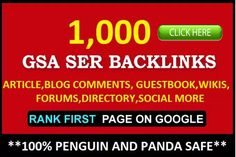 I will create 1000 HQ Backlinks for Your Website or Video…