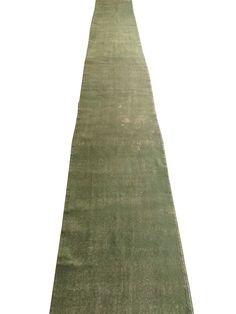 www.aksaraycarpet.com Overdyed Rug Green Color Runner 197 x 26 inches #overdyed #runner #rug #carpet #vintage #handmade