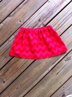 Girls Patriotic Skirt. 2 Tone Red Chevron. Or Your Choice Any Stripes, Chevron, Quatrefoil, or Polka Dot Fabrics. By EverythingSorella. by EverythingSorella on Etsy