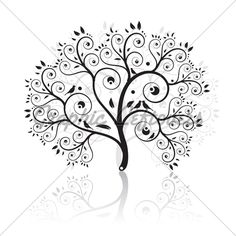 Graphic Art Trees   Art Tree Beautiful · GL Stock Images
