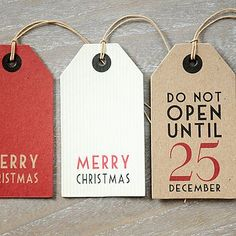 Paint some Christmas tags.