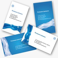 4 Blue Personal Business Cards Templates