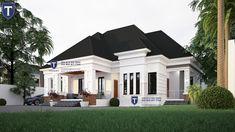 Four Bedroom bungalow 3d House Plans, House Plans Mansion, Bungalow House Plans, Family House Plans, Modern Bungalow House Design, Duplex House Design, Small House Design, Verona, House Construction Plan
